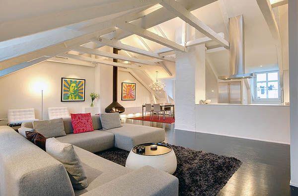 Magnificent and Lavish Loft Interiors in Sweden