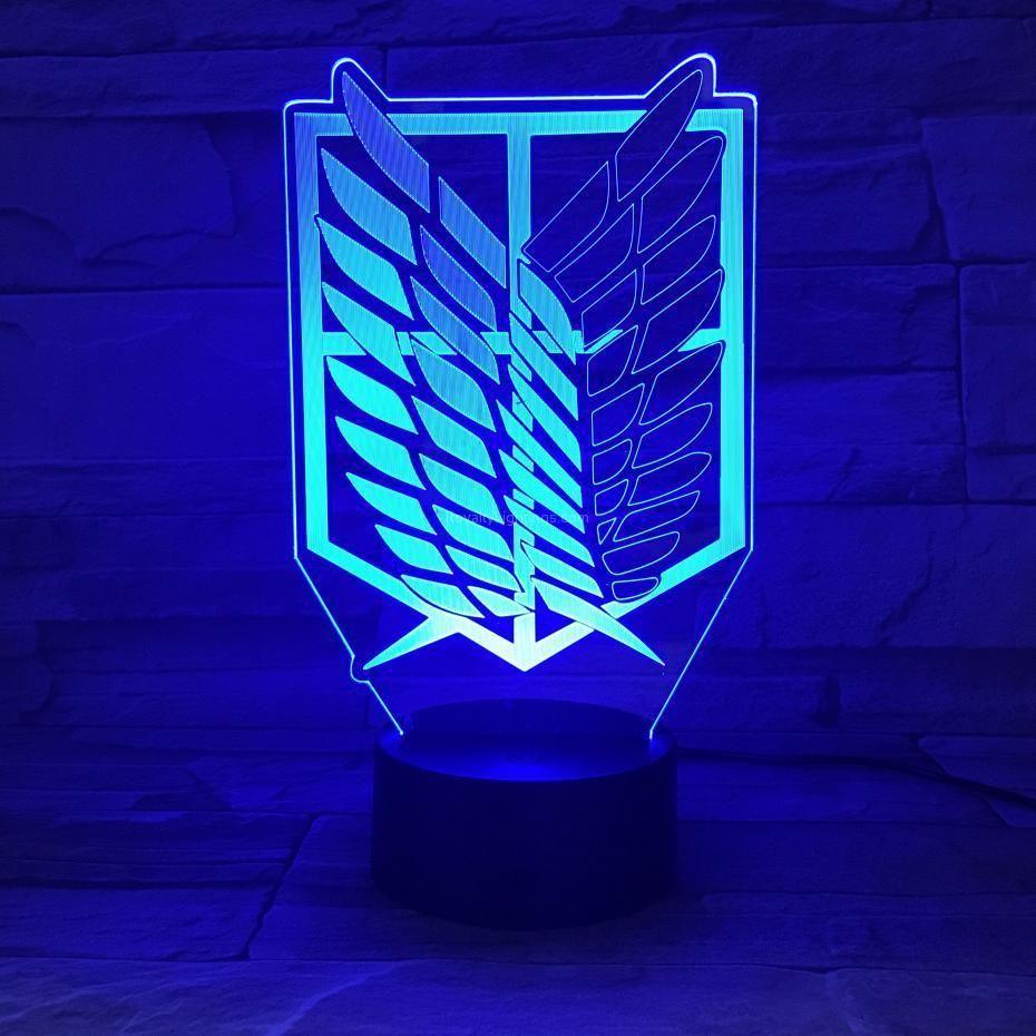 Attack On Titan Logo 3d Led Royaltylightings In 2020 Led Logo Led Night Light Titan Logo