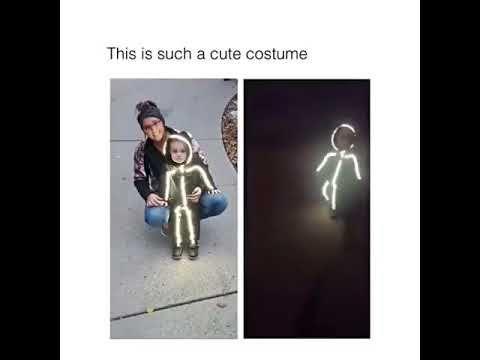 kid stick figure halloween costume youtube