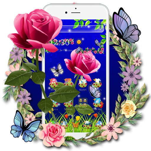 Bring These Beautiful Roses To Your Phone Screens Download The Scarlet Rose Butterfly Theme Now Rosetheme Cmlaunch Butterfly Theme Theme Beautiful Roses