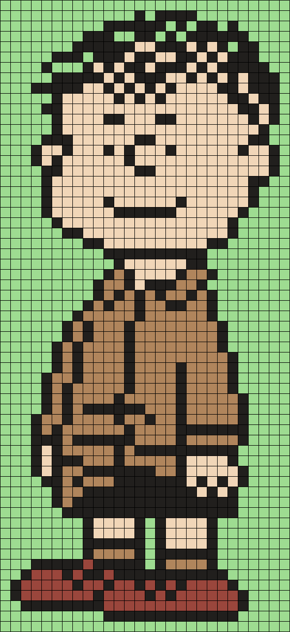 Shermy From Snoopy And The Peanuts Gang (Square) Perler Bead Pattern ...