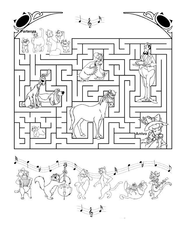 Famoso aristogatti Enigmistica per bambini e ragazzi | Il Labirinto  LF21