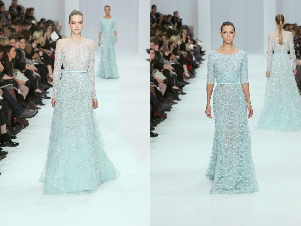 4] Ice Blue Wedding Dresses Elie Saabs Spring Summer 2015 ...