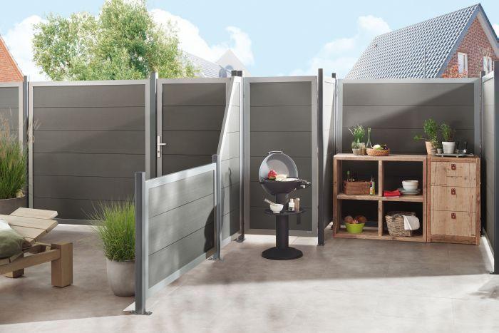 Bildergebnis für sichtschutz grau Gartengestaltung