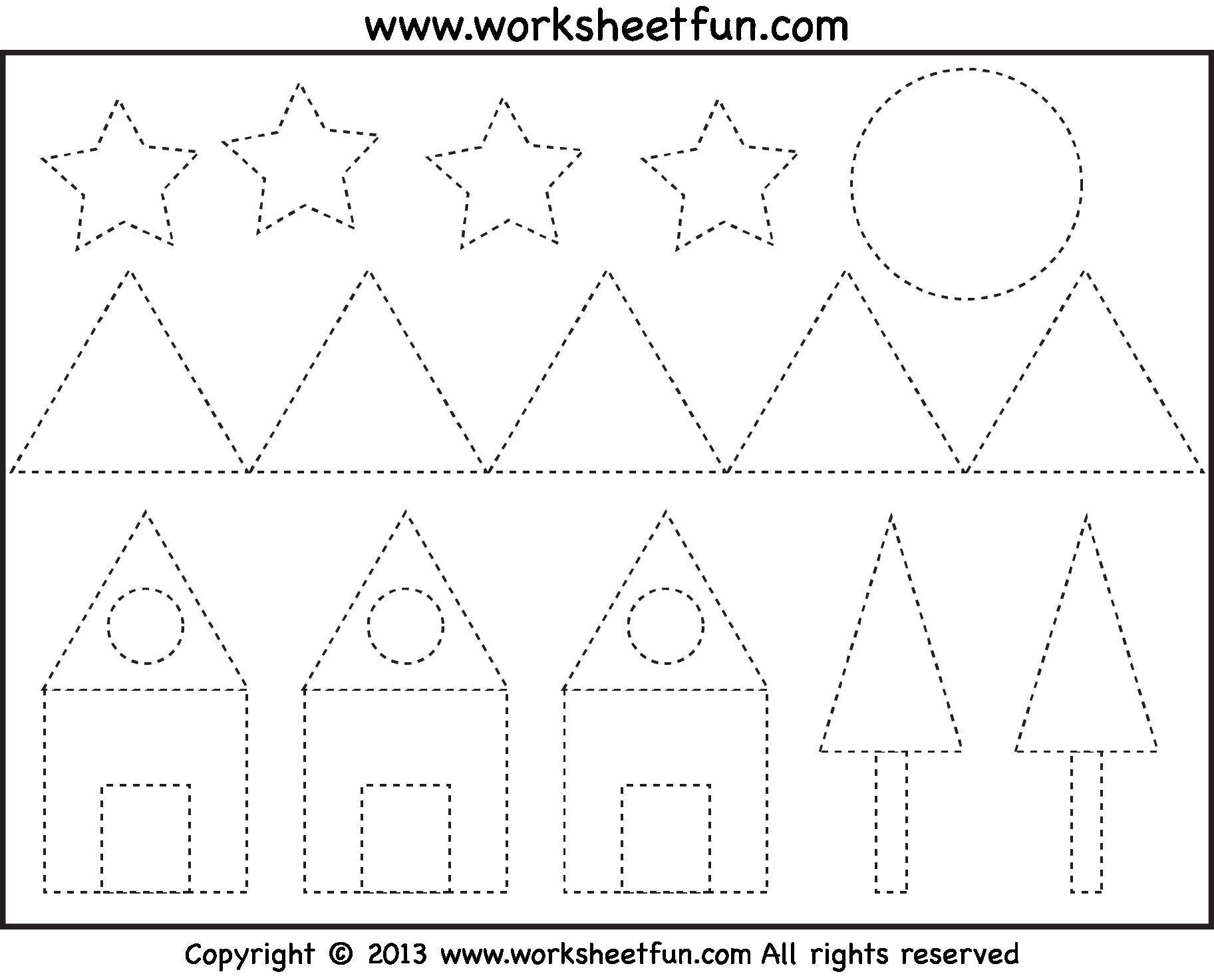 Free Printable Preschool Worksheets Tracing Shapes 2 En