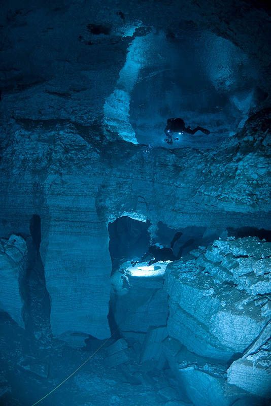 The Orda Cave Awareness Project charted and explored the largest underwater gypsum cave system in Russia