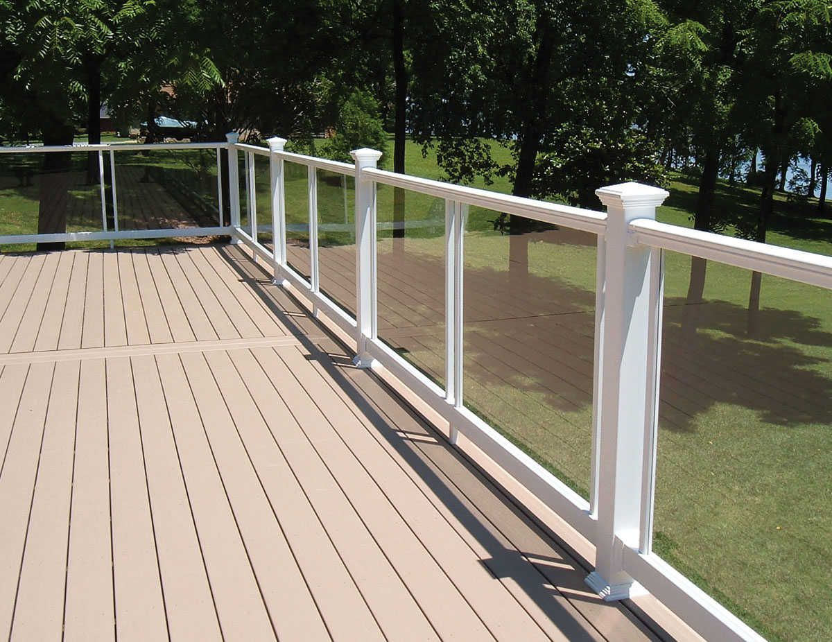 Fairway Vinyl Railing V220 Series W Acrylic Panels Vinyl Railing Acrylic Panels Deck Yard Ideas