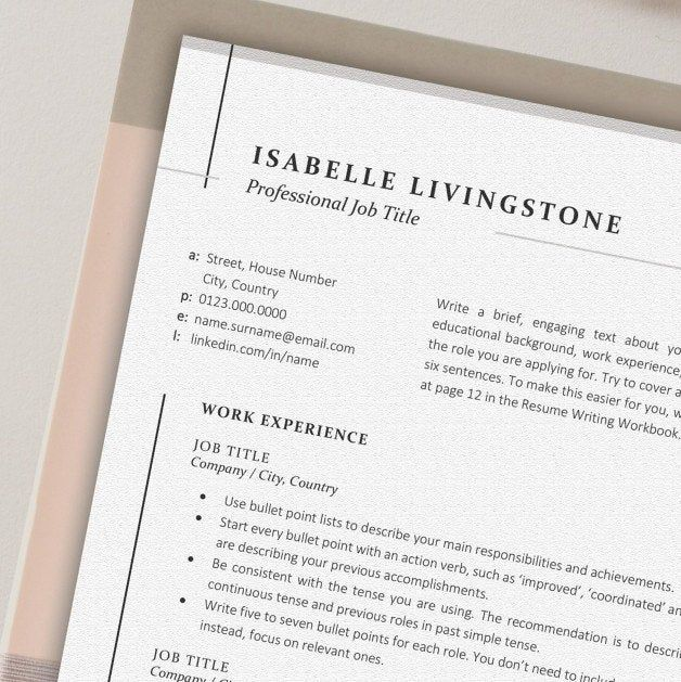 this professional  yet modern and unique  resume design is