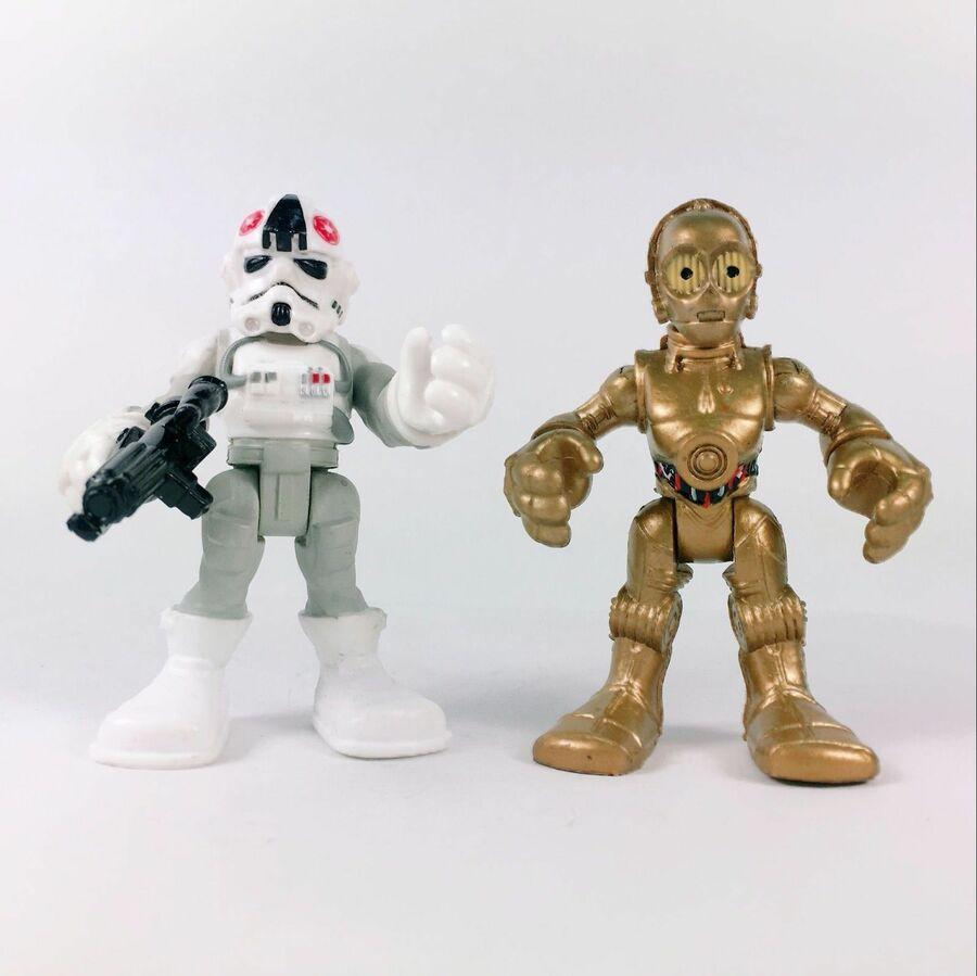 Playskool Star Wars Galactic Heroes Jedi Force Clone Snow trooper EZRA Yoda Toys