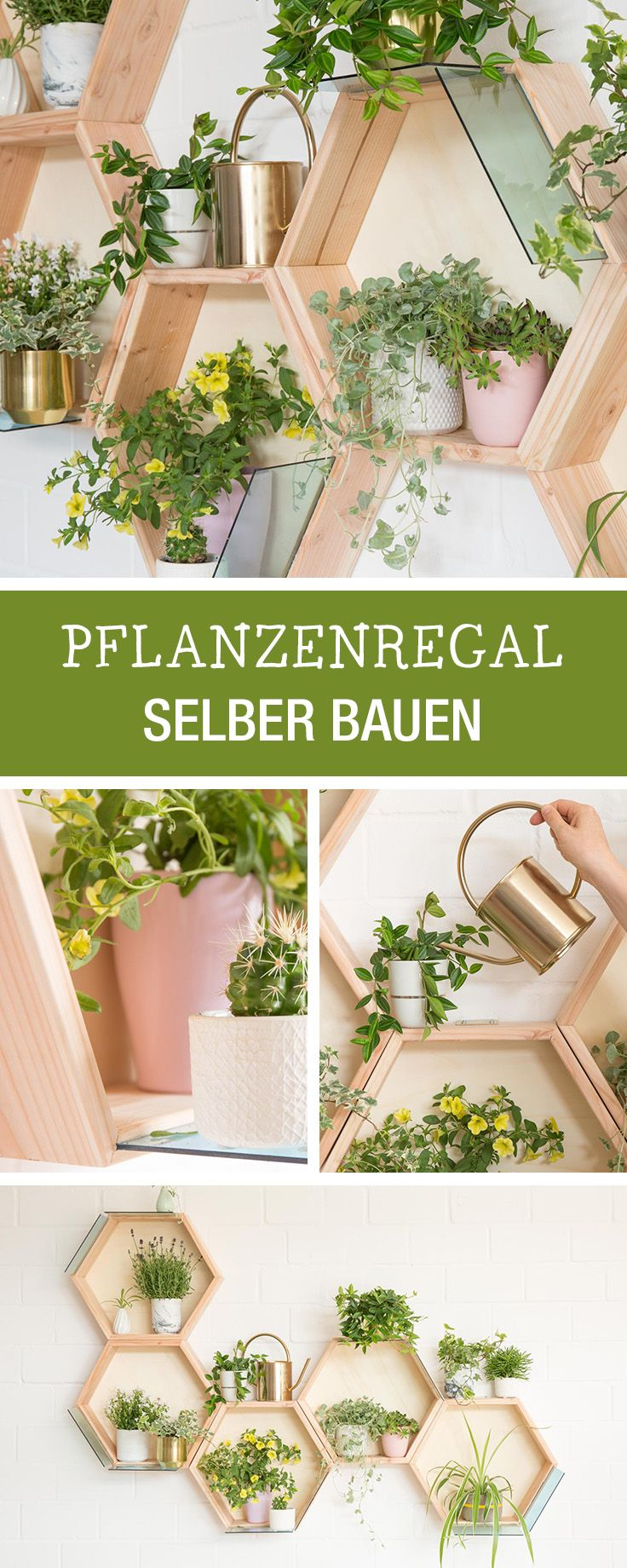 Diy Anleitung Dekoratives Pflanzenregal Selber Bauen Via Dawanda