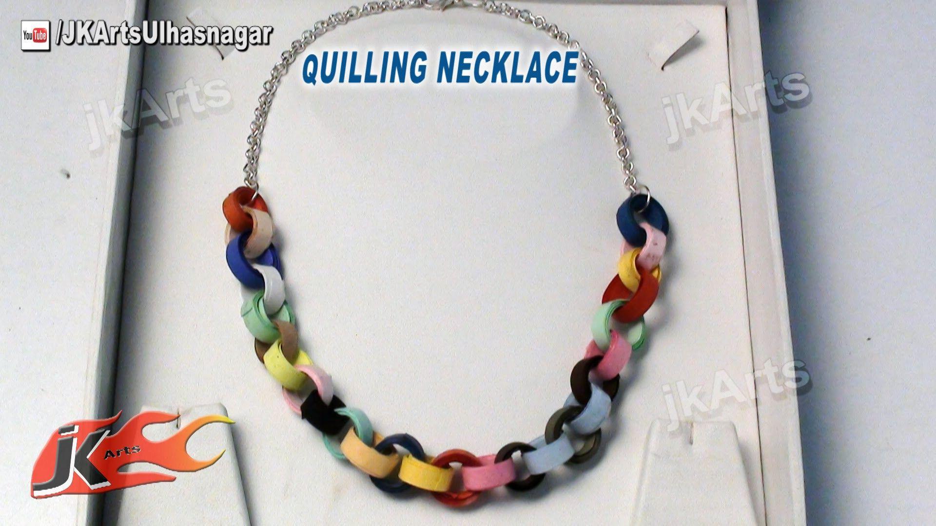 Diy how to make paper quilling necklace jk arts šperk