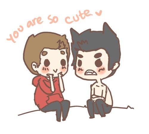 Adorable Stiles & Derek Drawing ♡♥♡♥