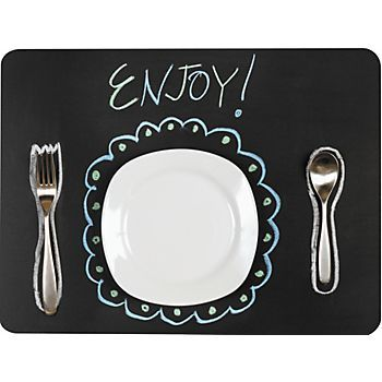 Chalkboard Placemat Tablesettings Chalkboard Placemats Chalkboard Fabric Placemats Kids