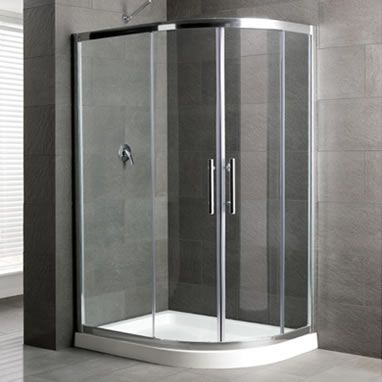 1000 X 800 Mm With High Tray Offset Quadrant Shower Enclosure Easy Clean Glass Space Quadrant Shower Enclosures Corner Shower Enclosures Quadrant Shower