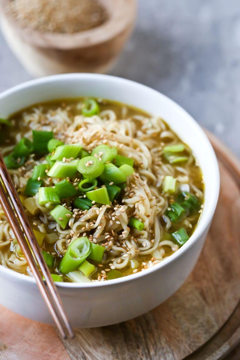 Easy Vegan Ramen Noodle Soup Recipe Homemade Ramen Homemade Ramen Noodles Soup Ramen Noodle Soup