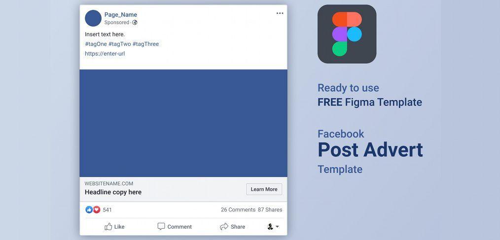 Facebook Ads Free Figma Template Templates Fb Ads Facebook Ad