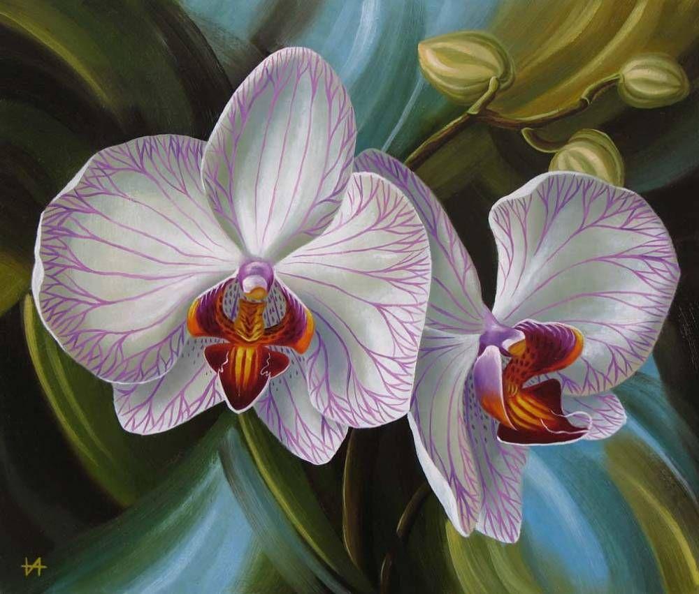 Декупаж картинки орхидеи