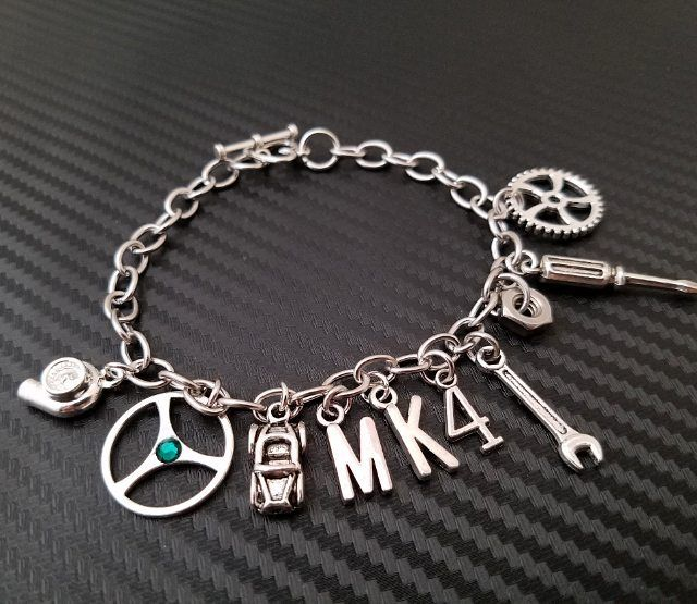 Custom Mk4 Car Part Charm Bracelet Going Out Today Spell Any Make Model