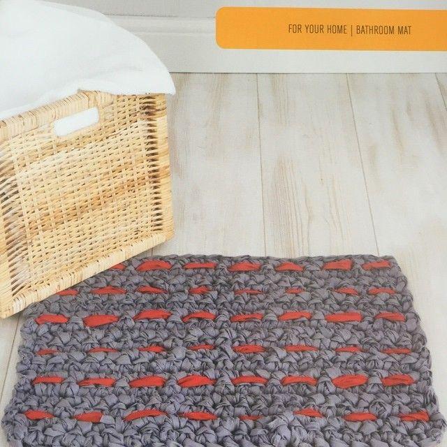 Big Hook Rag Crochet Woven Mat Pattern In Big Hook Rag Crochet