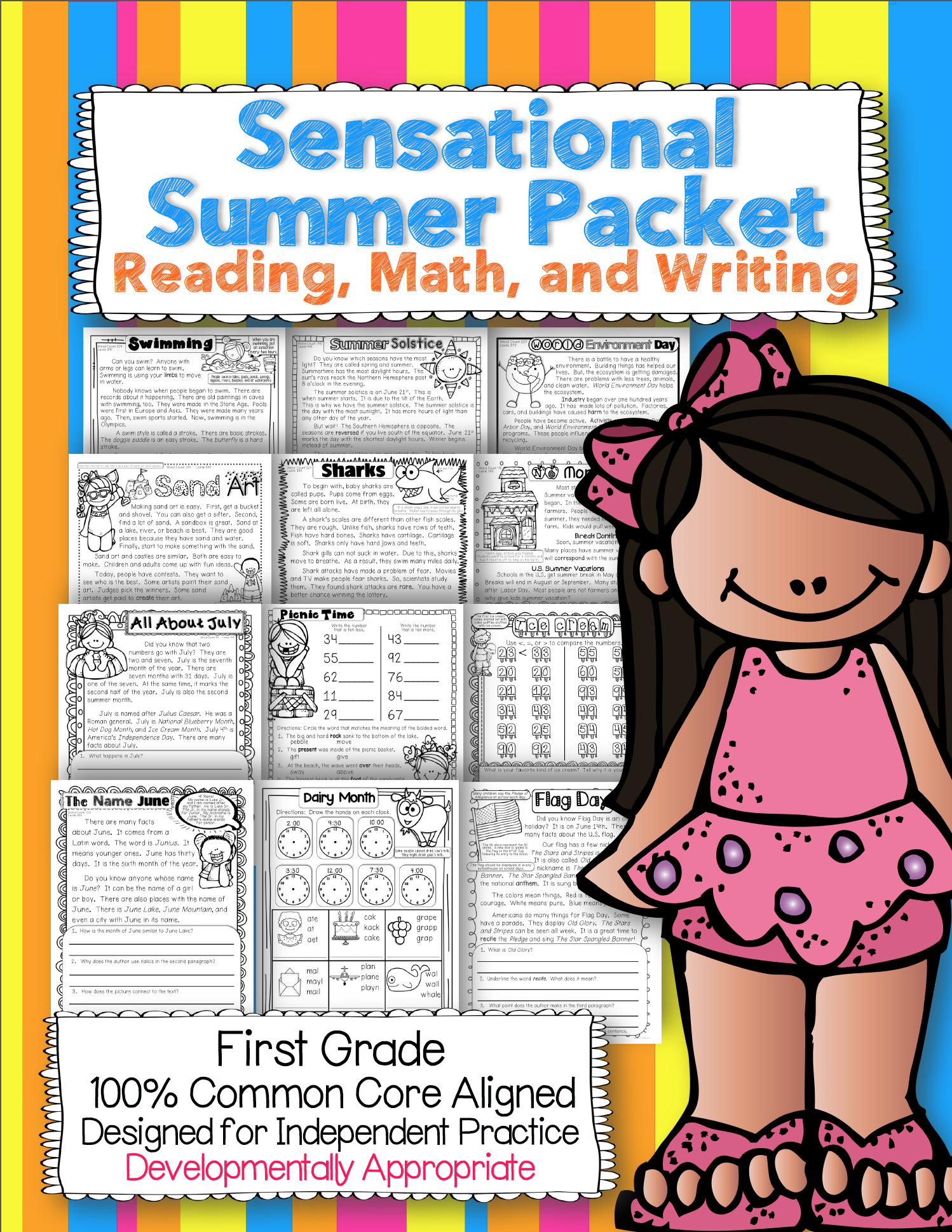 Comprehensive Summer Review For First Graders Entering