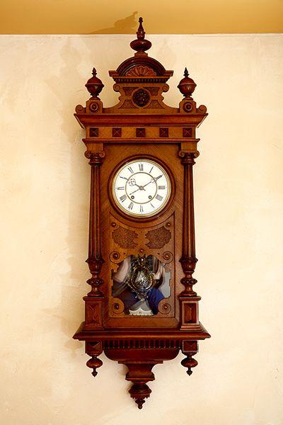 1895 lenzkirch company vienna clock rare double hammer - Antike wanduhren ...