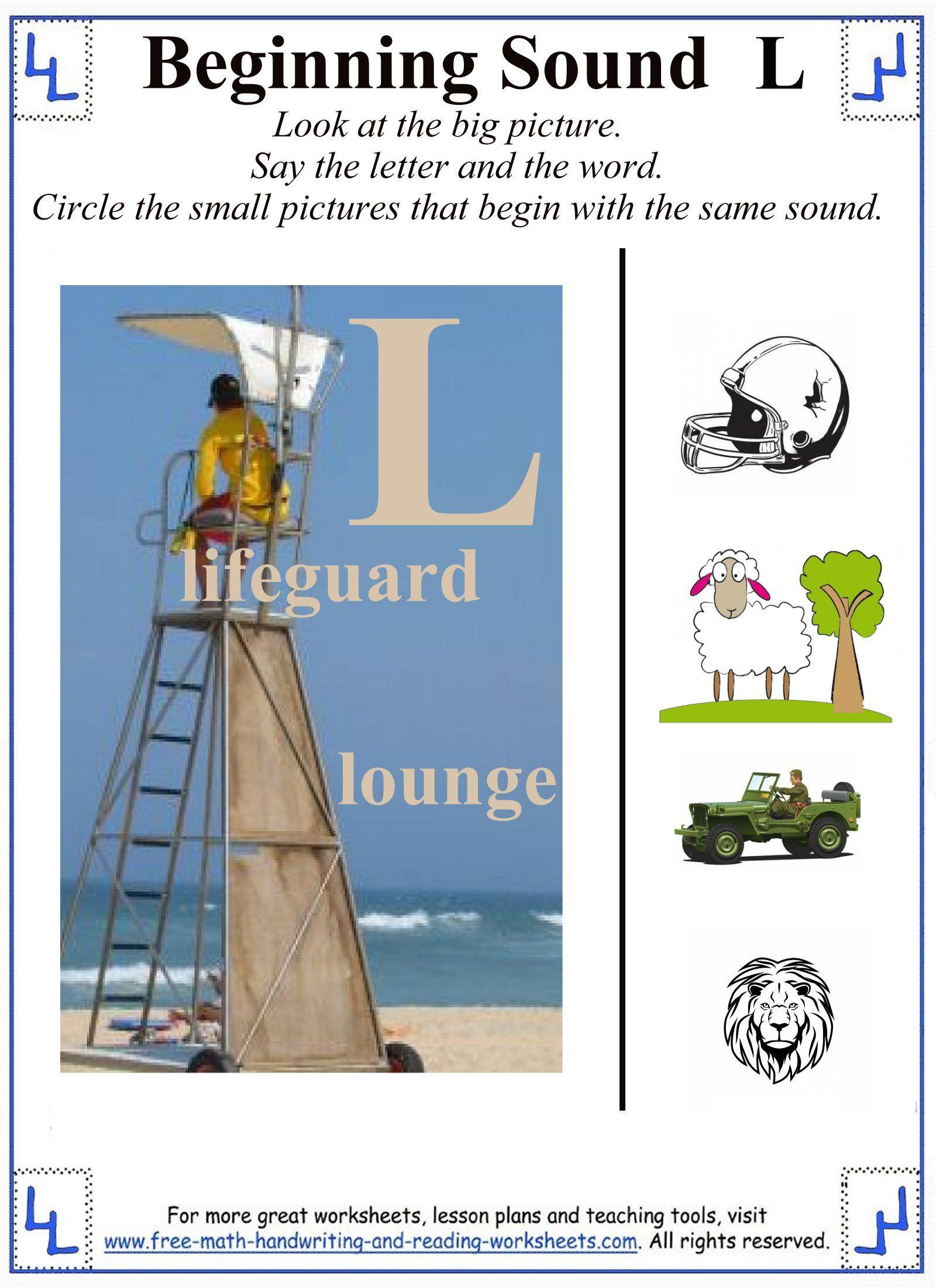 L Letter Worksheet 1 | Consonant Letters | Pinterest | Letter ...