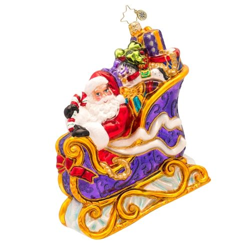 Radko Many Miles to Go Ornament 2015