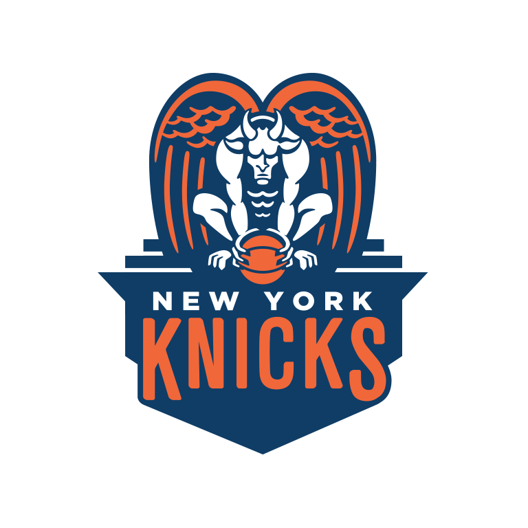 Nba Logo Redesigns New York Knicks New York Knicks Logo Nba Logo Logo Redesign