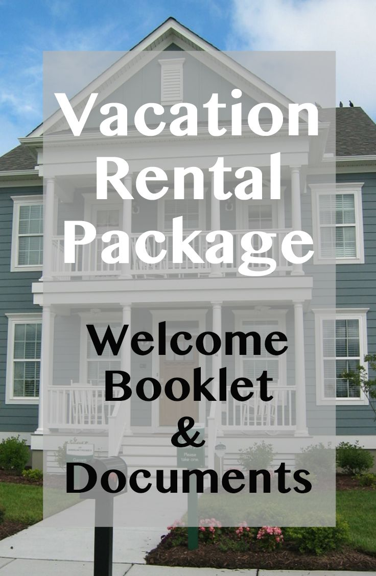 10 Item Package -- Vacation Rental Welcome Book Template Instant ...