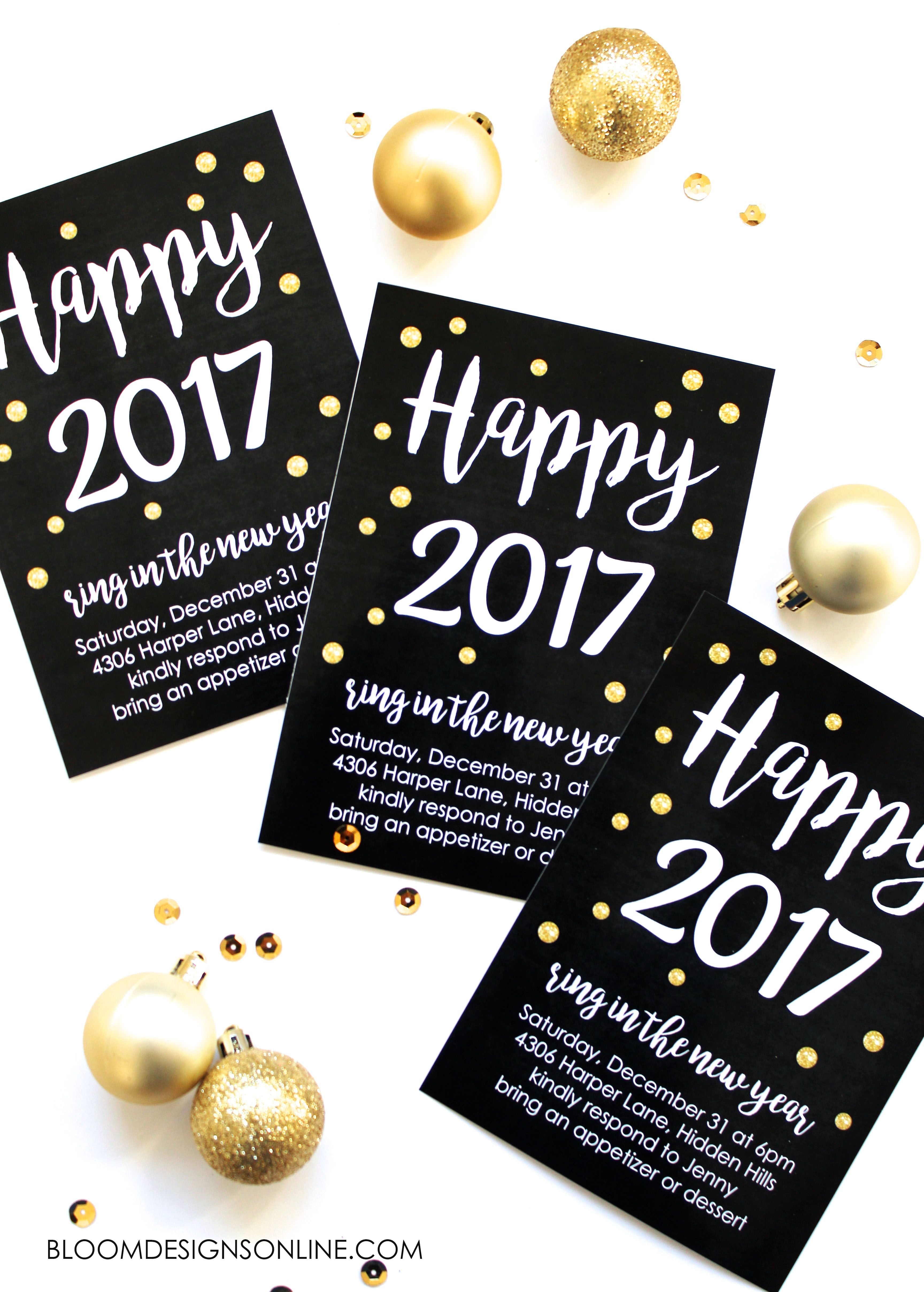 Editable New Year S Invitations New Years Eve Invitations New Year S Eve Crafts Invitations