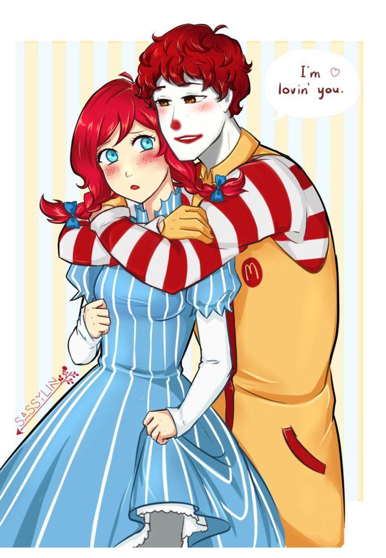 Wendy S X Mcdonald S By Sassylin Cartoon Art Anime People Drawing Anime Clothes