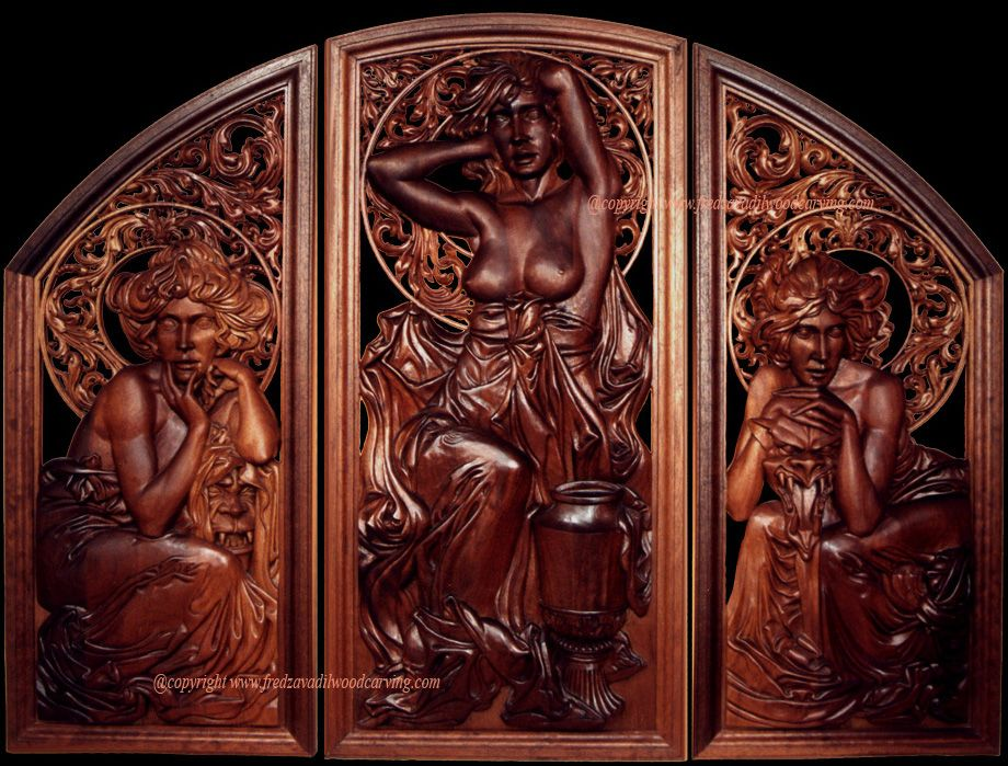 Wood sculpture relief carving sculptures
