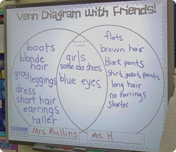 Venn Diagram In First Grade Classroom Pinterest Teaching