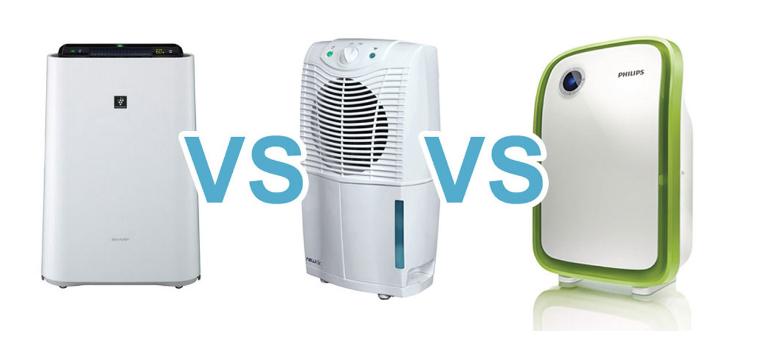 Air Purifier VS Humidifier VS Dehumidifier What's The
