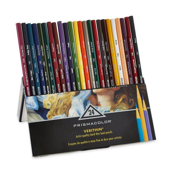 Prismacolor Premier Hard Lead Set Of 24 Colored Verithin Pencils