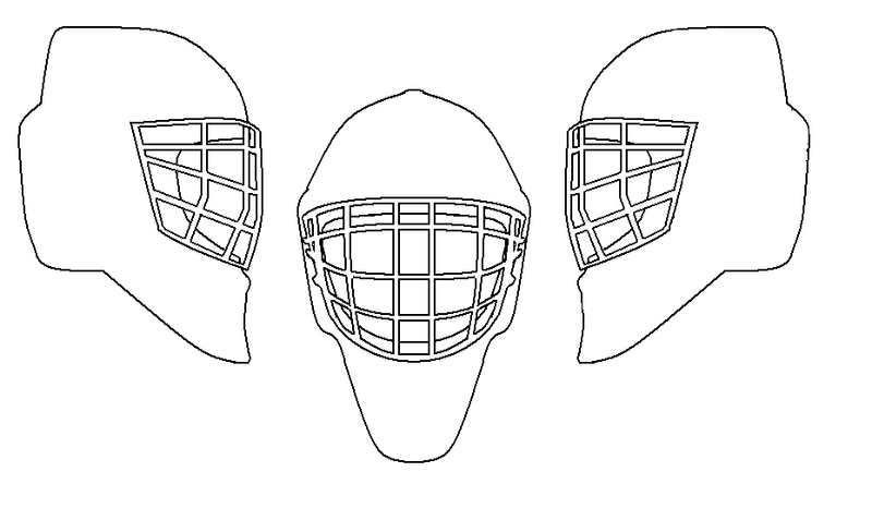 Goalie Helmet Template