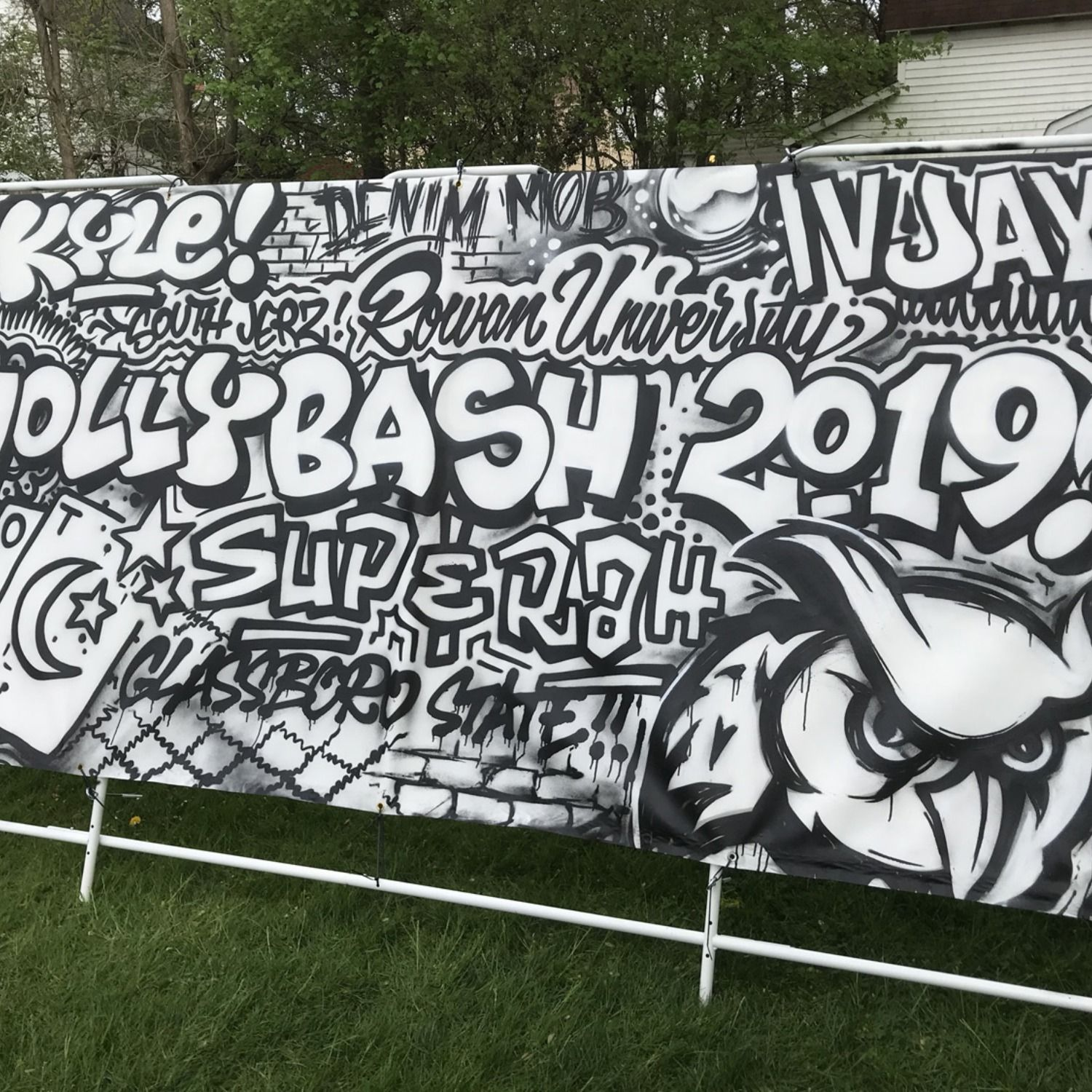 Coloring Book Mural Canvas For Music Festival At University Event In Nj Festival Paint Mural Mural Art