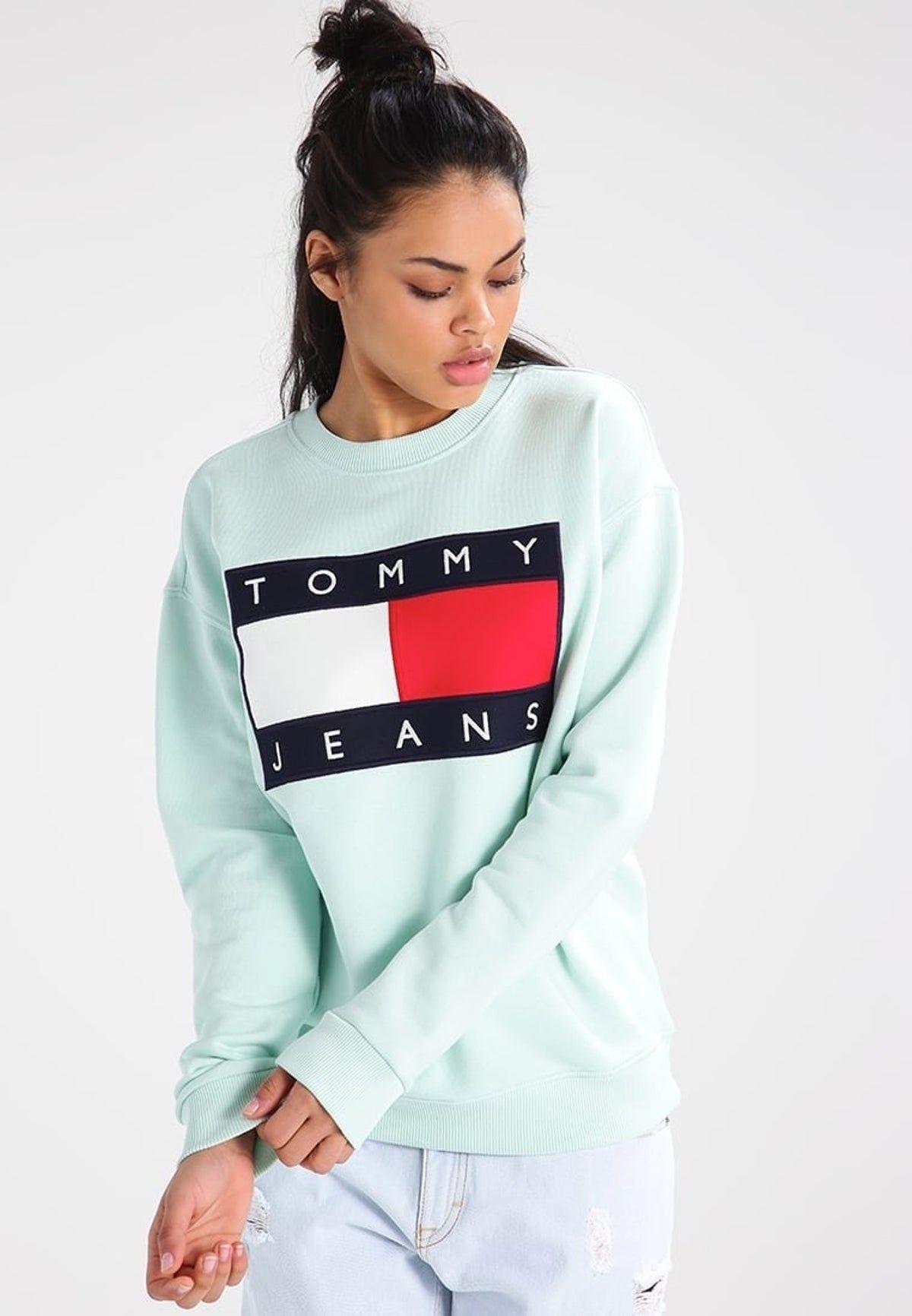 Tommy Hilfiger Mint Green Sweatshirt Tommy Clothes Sweatshirts Tommy Hilfiger Outfit [ 1732 x 1200 Pixel ]