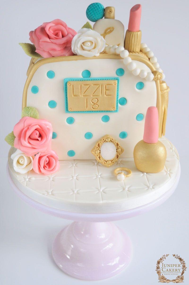 Astounding Roses Cosmetics And Jewels Birthday Cake Cake Jewel Cake Funny Birthday Cards Online Unhofree Goldxyz