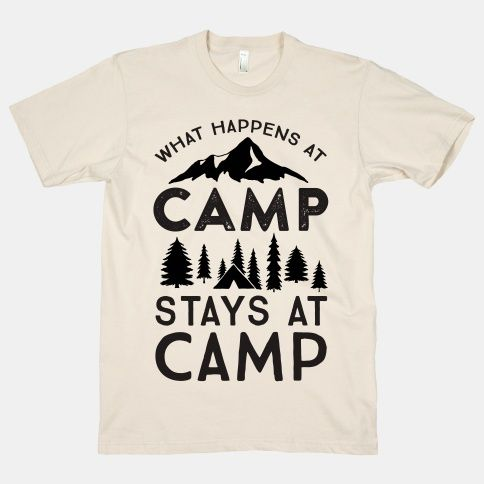 3cf873cd2700 What Happens At Camp Stays At Camp T-Shirt