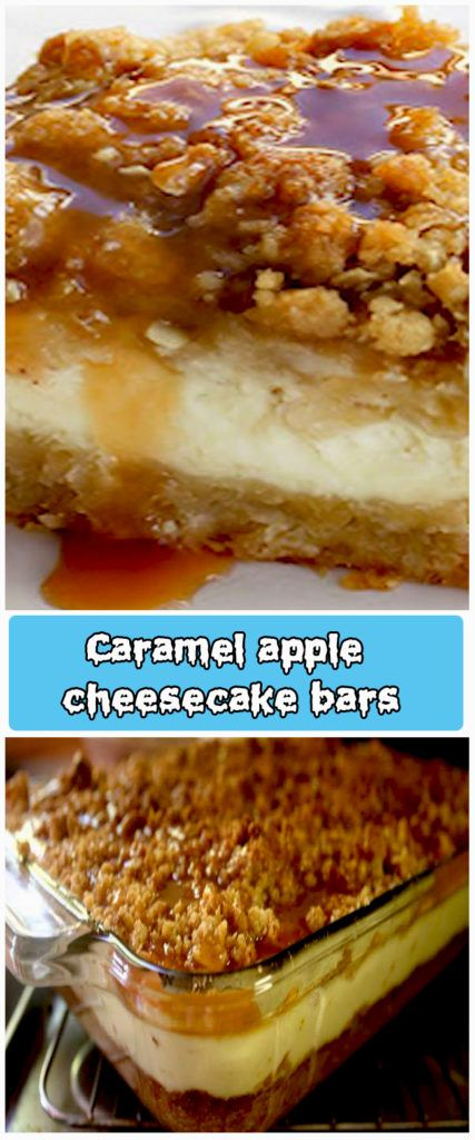 How To Make The Best Caramel apple cheesecake bars | superfashion.us #caramelapplecheesecake