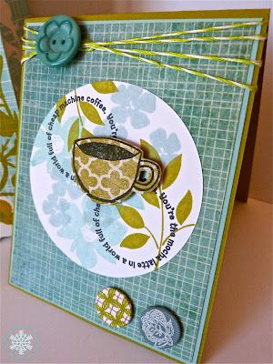 paper & ICE: Using a Gift Bag as Inspiration for card by Noelle McAdams