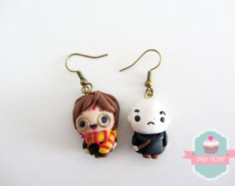 Earrings Sally & Snoopy by CandyFactory7 on Etsy