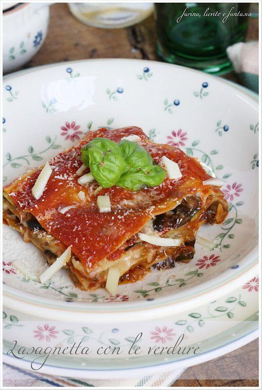 Piatto tipico del periodo: lasagnetta con verdure. E' uno dei miei primi piatti preferiti, un mix di ortaggi come zucchine, melanzane e peperoni, che portano in tavola una vera prelibatezza. La sfoglia di pasta all'uovo è ideale se preparata in casa, ma se il tempo manca potete sostituirla con quella semplice, non all'uovo. Servizio Piatti Felice Nostalgia WALD   Ingredienti: 250gr. di sfoglia fresca per pasta 2 zucchine 2Continua a leggere...