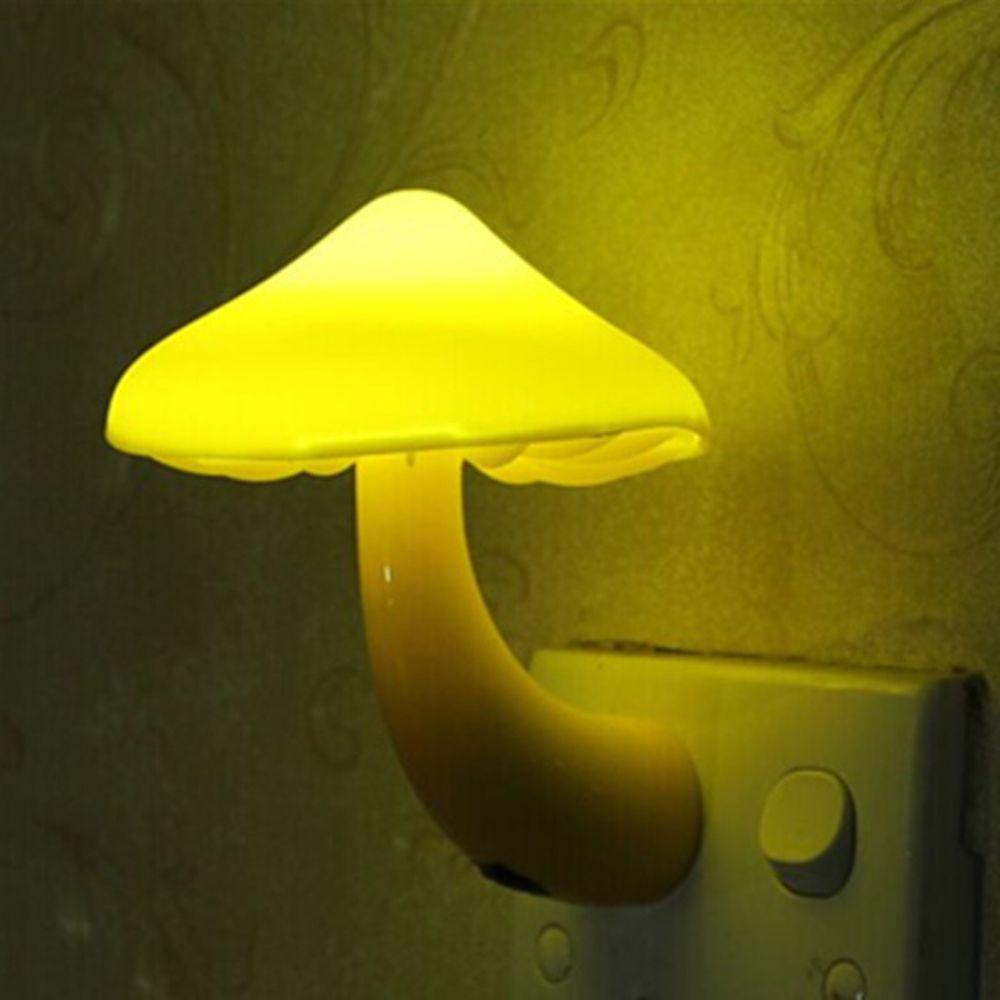 Lieblich EU Us Stecker LED Nachtlicht Pilz Steckdose Lichter Lampe Für Schlafzimmer  Dekoration Heißer Licht Gesteuert Sensor