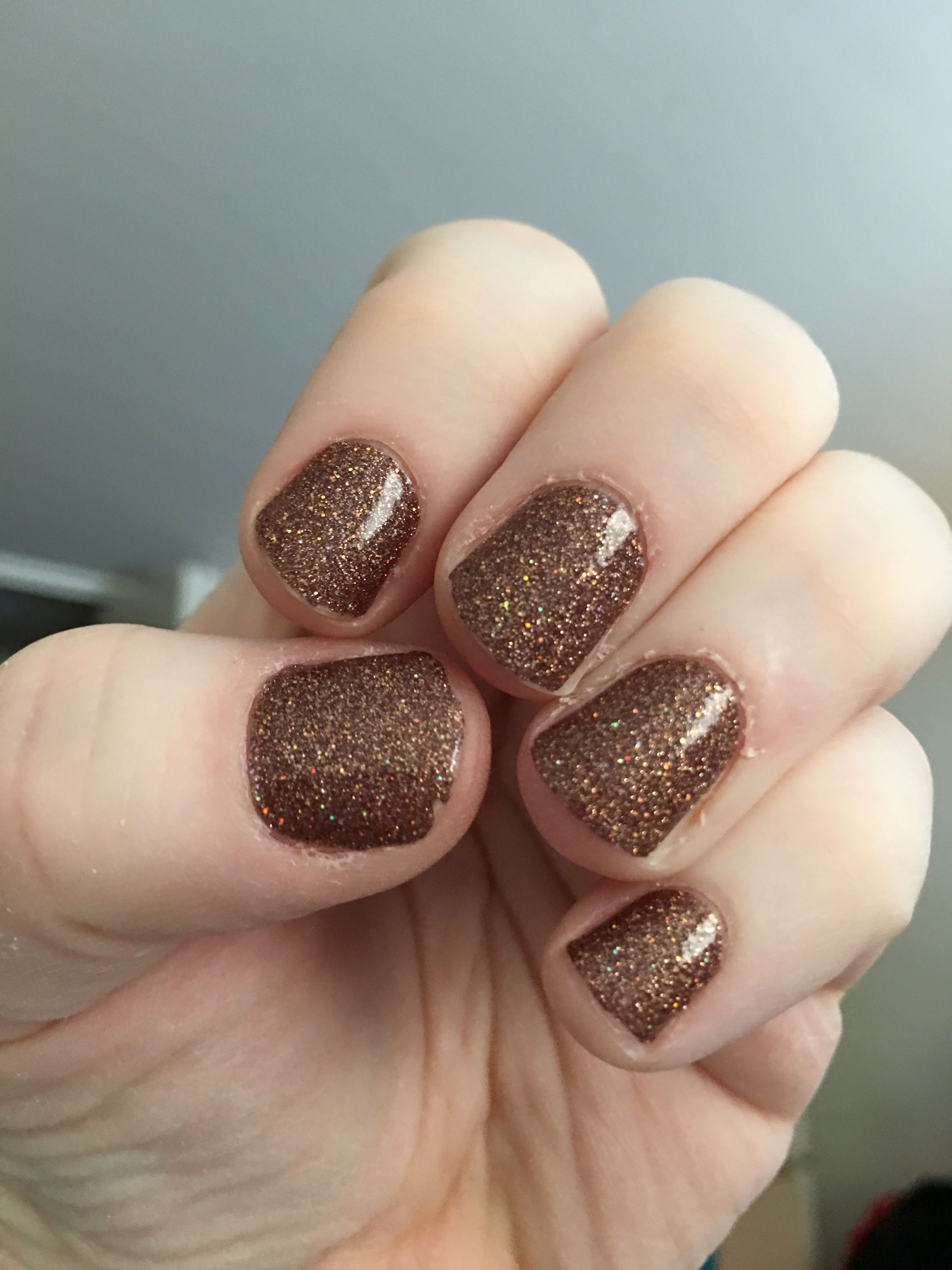 Color Street S Sahara Jewel Glitter Nail Strips Sparkly But Works As A Great Neutral Color As