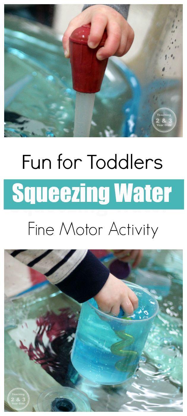 Toddler Fine Motor Water Activity Motor Skills Activities Toddler Activities Fine Motor Activities