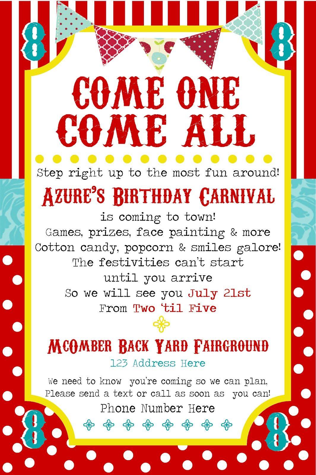 SimplyCumorah: Carnival Party ~ Behind the Scenes | State Fair ...
