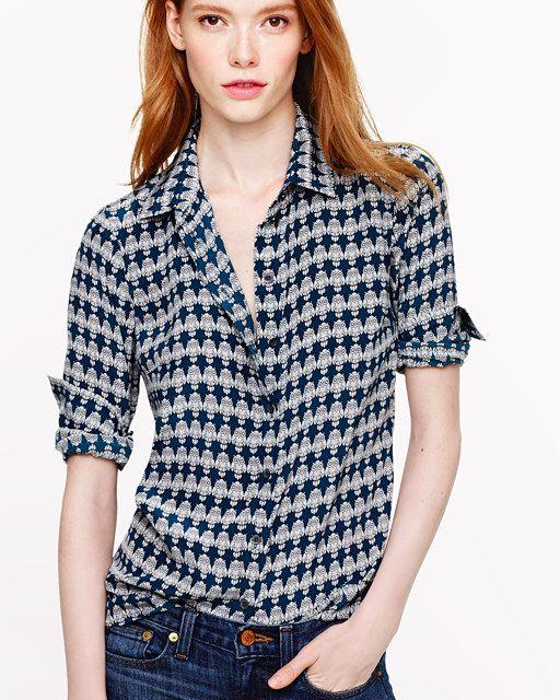 3ec4621b J.Crew owl print silk boy blouse. Will wear this today!! | FASHION ...
