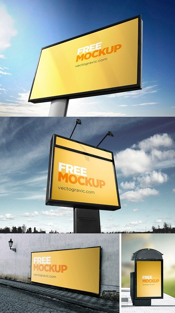 free outdoor sign mockups free psd files pinterest photoshop